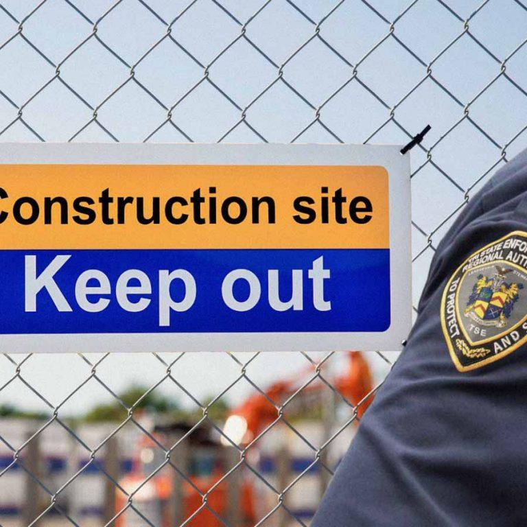 Construction site security services