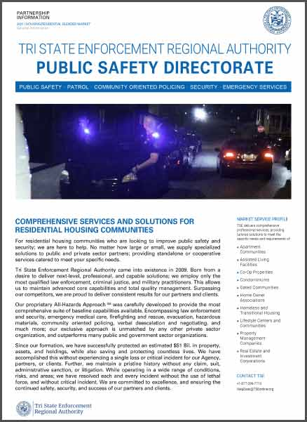 Housing and Residential Community Safety and Security Services by TSE.