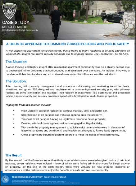 Residential Community Security Services, A Case Study