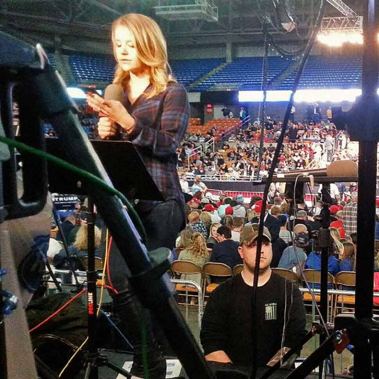 TSE Agents provide close protection and personal security for news reporters at Donald Trump rally in Charleston, WV